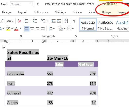 putting excel into word 8321 - Putting Excel into Word