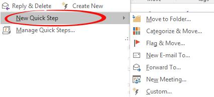 quick steps in outlook 10255 - Quick Steps in Outlook
