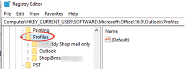 renaming an outlook profile microsoft outlook 32109 - Renaming an Outlook Profile