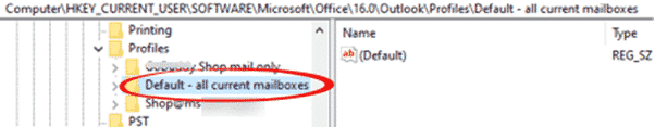 renaming an outlook profile microsoft outlook 32110 - Renaming an Outlook Profile