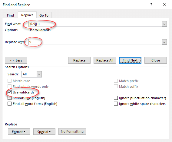 replace text with filler complete step by step microsoft word 17537 - Replace Text with Filler - complete Step by Step