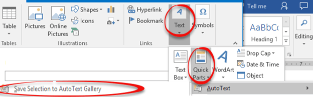 reusable text in word documents 11511 - Reusable text in Word documents
