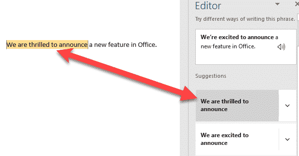 rewrite a new language helper for microsoft word office 365 31873 - The dirty little secrets of Word's new Rewrite feature