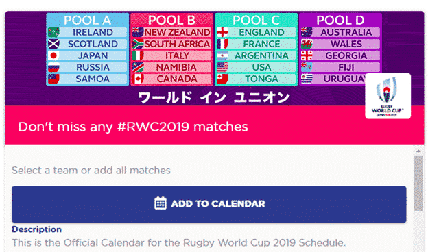 rugby world cup 2019 in your outlook calendar microsoft outlook 26254 - Rugby World Cup 2019 in your Outlook calendar