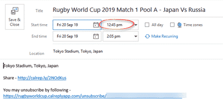 rugby world cup 2019 in your outlook calendar microsoft outlook 26262 - Rugby World Cup 2019 in your Outlook calendar