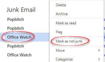 saving office watch from outlook com microsoft outlook 17218 - Saving Office Watch from Outlook.com