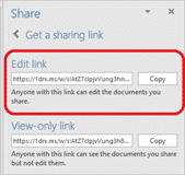 send a document sharing link from office 15523 - Send a document sharing link from Microsoft Office