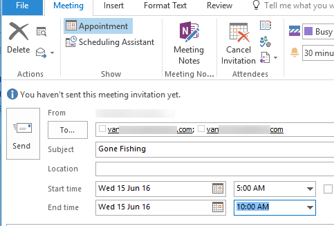 send and receive appointments via outlook 8902 - Send and Receive appointments via Outlook