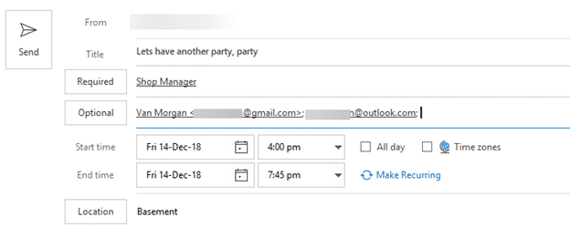 send party invitations from outlook microsoft outlook 24948 - Send party invitations from Outlook
