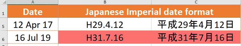 show japanese imperial era dates in excel and why its wrong microsoft office 25537 - Show Japanese Imperial Era dates in Excel and why it's wrong
