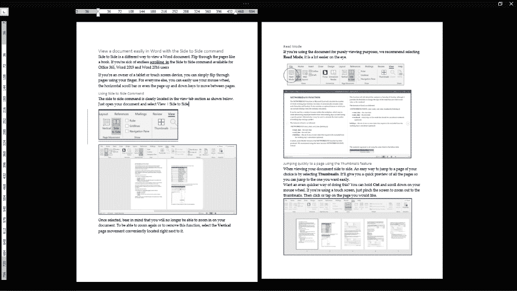 side to side a touchy way to view word documents microsoft word 35095 - Side to Side - a touchy way to view Word documents