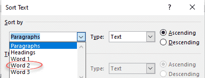 sort a list of names by surname or more in word microsoft word 28154 - Sort a list of names by surname or more in Word