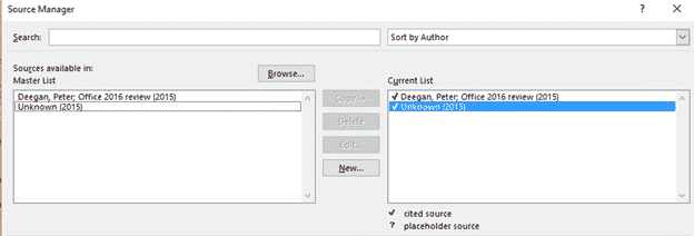 source manager for citations in word microsoft word 27930 - Source Manager for citations in Word