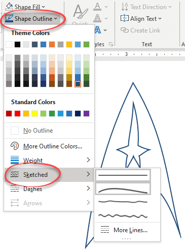 star trek logo with variations in office word powerpoint or excel microsoft office 34184 - Star Trek Logo with variations in Office, Word, PowerPoint or Excel