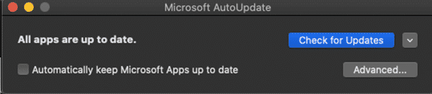 stop office for mac automatic updating office 365 34053 - Stop Office for Mac automatic updating