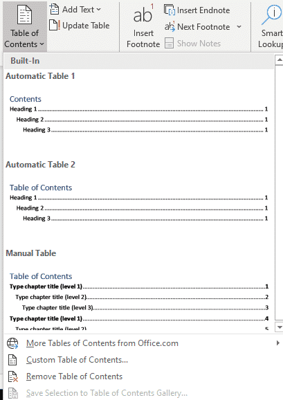 table of contents basics in word microsoft word 26545 - Table of Contents basics in Word