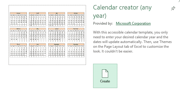 the mystery of excels calendar creator template microsoft office 33588 - The mystery of Excel's Calendar Creator template