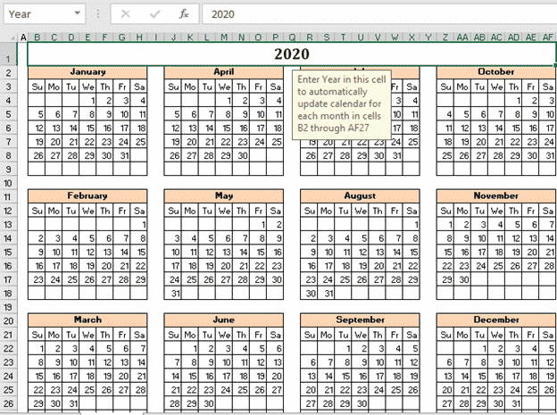 the mystery of excels calendar creator template microsoft office 33591 - The mystery of Excel's Calendar Creator template