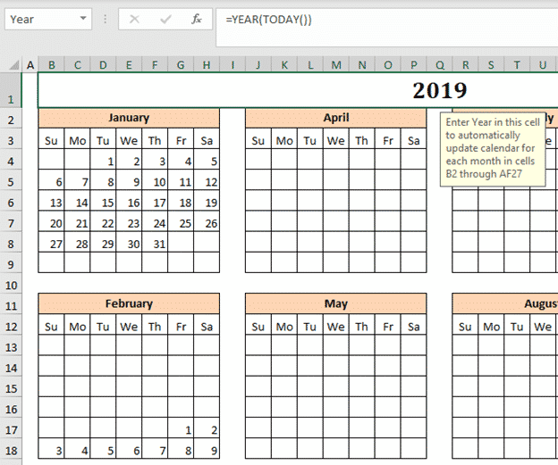the mystery of excels calendar creator template microsoft office 33592 - The mystery of Excel's Calendar Creator template