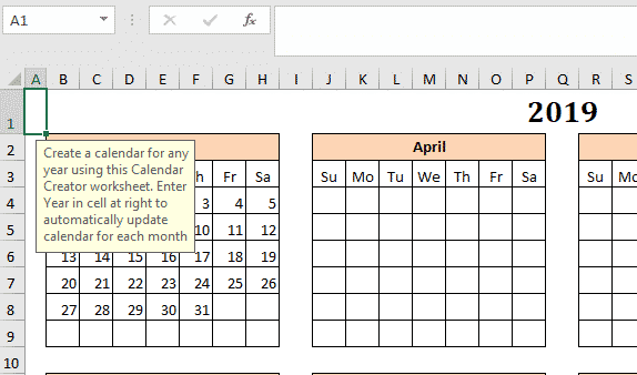 the mystery of excels calendar creator template microsoft office 33593 - The mystery of Excel's Calendar Creator template