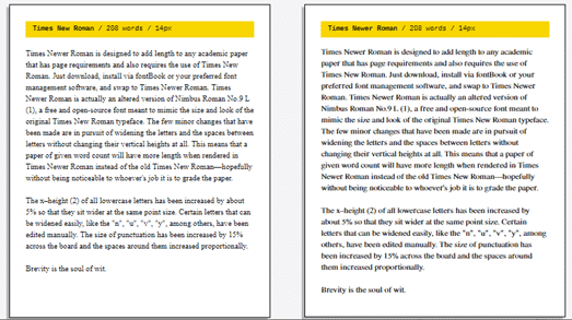 times newer roman puts less text on more pages 23664 - Times Newer Roman puts less text on more pages