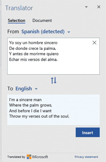 translating selected text in word microsoft office 29014 - Translating selected text in Word