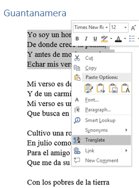translating selected text in word microsoft word 29016 - Translating selected text in Word