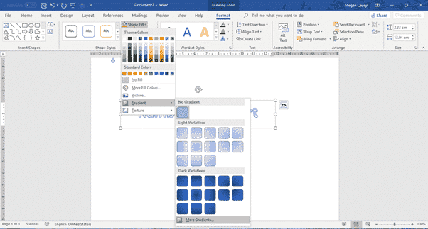 two ways to add gradient or rainbow text or background effects in word microsoft office 31122 - Two ways to add Gradient or Rainbow text or background effects in Word