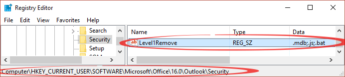 unblocking attachments in outlook 9566 - Unblocking attachments in Outlook