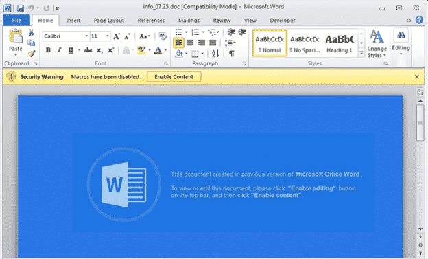 ursnif is back in word documents to steal your identity microsoft office 30395 - Ursnif is back in Word documents to steal your identity