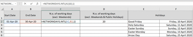 using networkdays intl to count working days step by step microsoft excel 35027 - Using NetworkDays.intl to count working days step-by-step