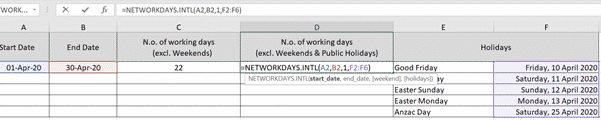 using networkdays intl to count working days step by step microsoft excel 35028 - Using NetworkDays.intl to count working days step-by-step