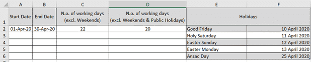 using networkdays intl to count working days step by step microsoft excel 35029 - Using NetworkDays.intl to count working days step-by-step