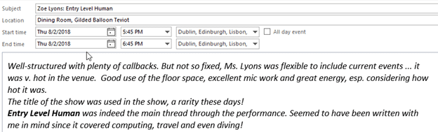 using outlook to plan your edinburgh festivals microsoft outlook 22854 - Using Outlook to plan your Edinburgh festivals
