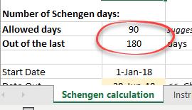 visa calculation for european schengen visitors an excel worksheet 22603 - Visa calculation for European / Schengen visitors - an Excel worksheet
