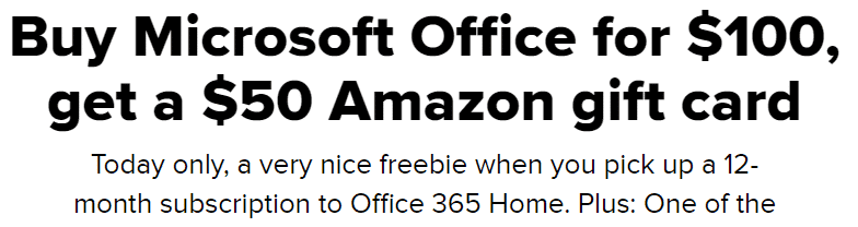 warning office 365 plus amazon gift card scam buying office 27048 - Warning: Office 365 plus Amazon gift card price ripoff ?