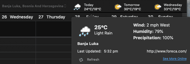 weather bar in outlook for mac is both better and worse microsoft outlook 28721 - Weather Bar in Outlook for Mac is both better and worse