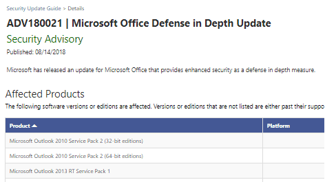 what does microsoft office defense in depth update really mean 23102 - What does 'Microsoft Office Defense in Depth update' really mean?