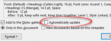 what does word style automatically update really mean microsoft word 25360 - What does Word style 'Automatically update' really mean?