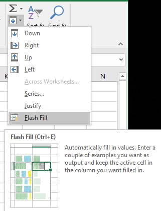 what happened to flash fill in excel microsoft excel 16622 - What happened to Flash Fill in Excel?
