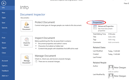 why you must use the document inspector 6787 - Why you must use the Document Inspector