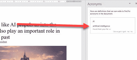 word can understand acronyms microsoft word 29317 - Word can understand acronyms