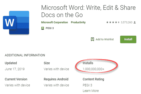 word for android reaches a real billion milestone microsoft office 29613 - Word for Android reaches a real billion milestone