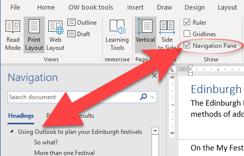 word navigation pane tricks and hidden options microsoft word 22900 - Word Navigation Pane tricks and hidden options