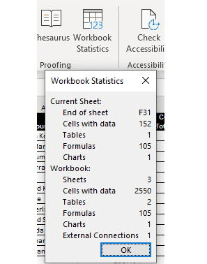 workbook statistics finally in excel 365 37601 - Workbook Statistics finally in Excel