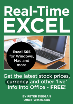 Real-Time Excel - get live stock prices, currency rates and more