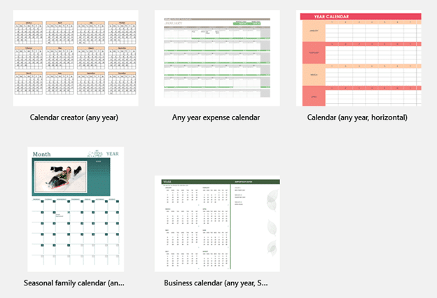 2019 Calendars from Excel - Office Watch