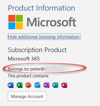 Microsoft 365 which email address am I using - Microsoft 365 which email address am I using?