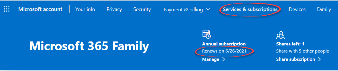Find your Microsoft 365 plan expiry date and when Microsoft charges for renewal - Find your Microsoft 365 plan, expiry date and when Microsoft charges for renewal