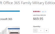 Two military discounts for Microsoft 365 221x138 - Office Watch Microsoft Outlook Word Excel Powerpoint Access Teams Onenote